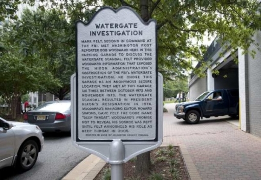 Soon, a plaque may be all that remains of the garage where Watergate secrets were shared.