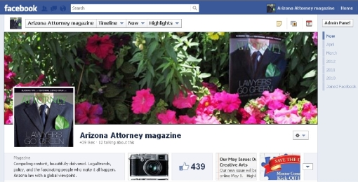 Facebook Screen shot April 2012