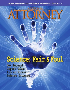 April 2009 Arizona Attorney cover