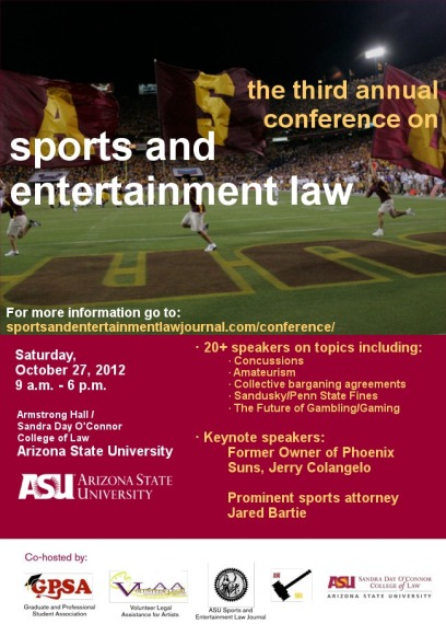 ASU Sports Law conference flier 1