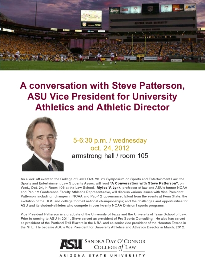 ASU Sports Law conference flier 2