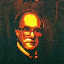 C.J. William Rehnquist carved into a pumpkin