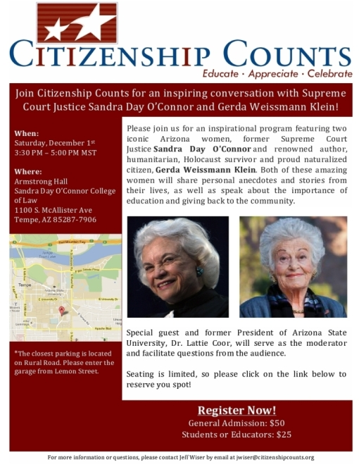 Citizen Counts 12-01-12 event with Sandra Day O'Connor
