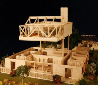 """A model of the """"dream home"""" inmate Herman Wallace wishes to have built."""