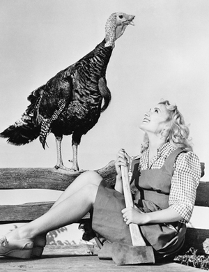 turkey and girl