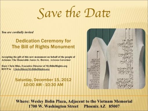 Bill of Rights Monument dedication invite p1