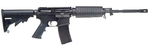 A Bushmaster .233 Remington semiautomatic rifle, one of the weapons used in recent school murders