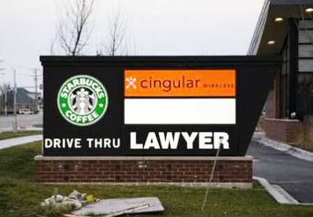 law firm trade name drive-thru
