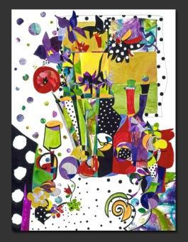 """Dotted Still Life"" by Deanna Thibault"
