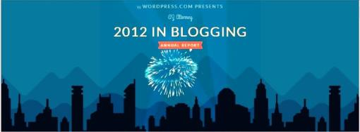Blog WordPress year in review 2012