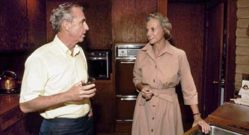 John and Sandra Day O'Connor in their Paradise Valley home (undated photo)
