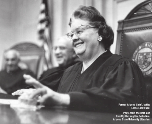 Former Arizona Chief Justice Lorna Lockwood