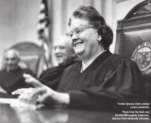 Former Arizona Chief Justice Lorna Lockwood