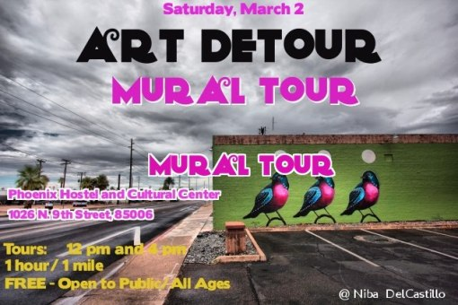 If 90 arts venues are not enough, you might enjoy the Phoenix Art Detour Mural Tour.