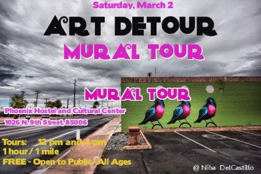 If 90 arts venues are not enough, you might enjoy the Phoenix Art Detour Mural Tour.