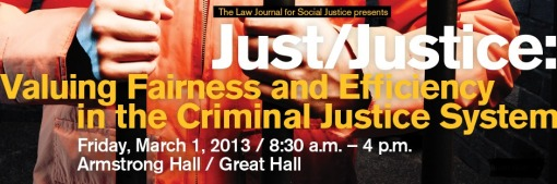 ASU Justice conference March 2013 agenda and poster