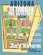 Arizona Attorney Magazine cover, February 2001
