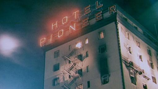 The Pioneer Hotel burns in downtown Tucson, December 1970.