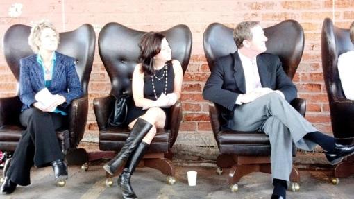 Venue Projects L to R: Shannon Scutari, Kimber Lanning, Phoenix Councilman Tom Simplot, Mar. 28, 2013.