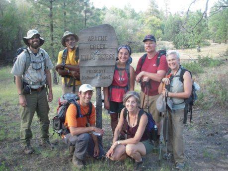 Hardworking volunteers with the Arizona Wilderness Coalition