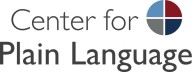 Center for Plain Language logo