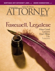 Arizona Attorney Magazine February 2013 cover