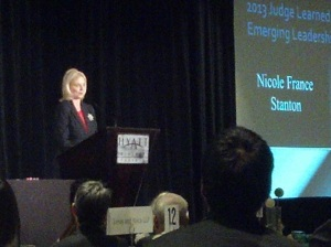 Nicole France Stanton at the Learned Hand Awards luncheon, 2013