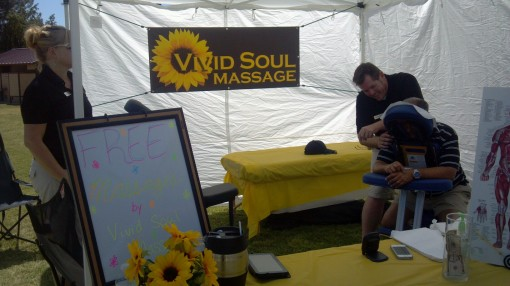 chair massage: A Bar event was never quite so soothing.