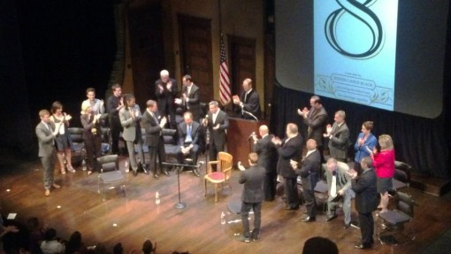 Grant Woods gets a standing ovation, Herberger Theatre Center, May 7, 2013.