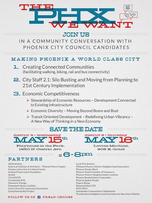 Phoenix City Council panel Urban Choices Invitation revised