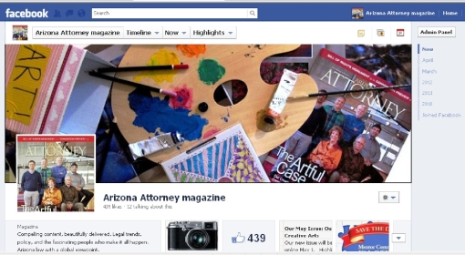 Arizona Attorney Facebook Screen shot May 2012