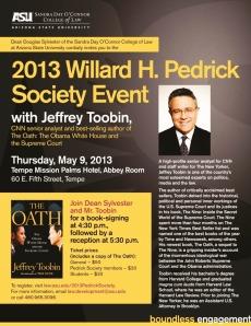Jeffrey Toobin_flier for ASU Law School