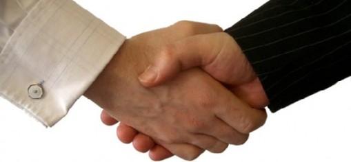 Attorney-Client shake hands