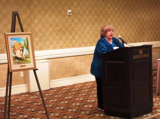 Dee-Dee Samet receives the Sarah Herring Sorin Award, June 21, 2013.
