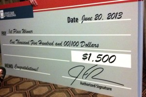 Battle of the Lawyer Bands big check