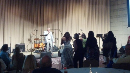 Booker T. Evans is in the house -- as he emceed (and sang) for the Battle of the Lawyer Bands, June 20, 2013.