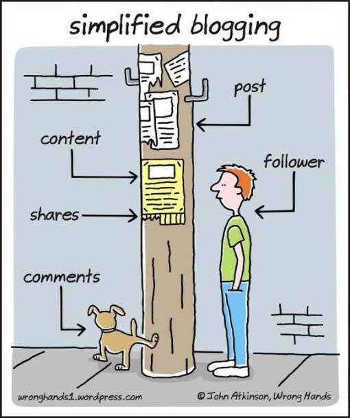 blogging cartoon via AMP