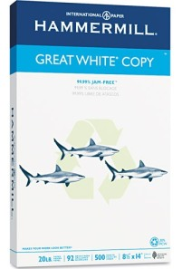 legal sized Great White paper