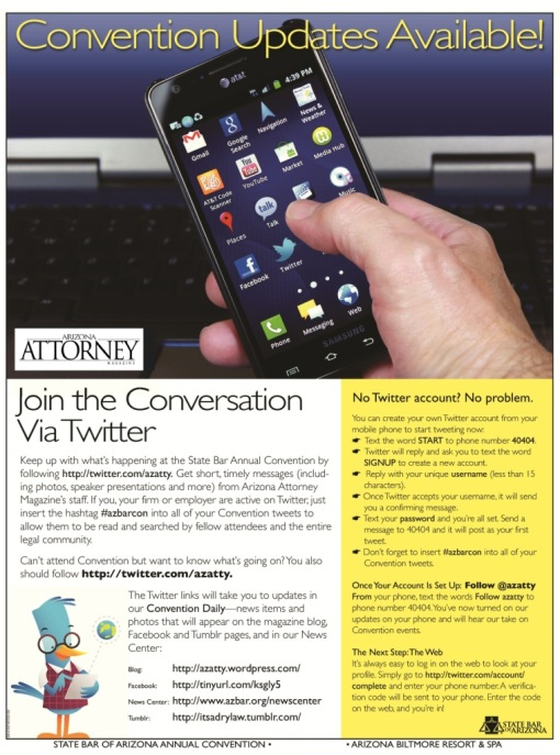 Twitter at Convention flier 2013