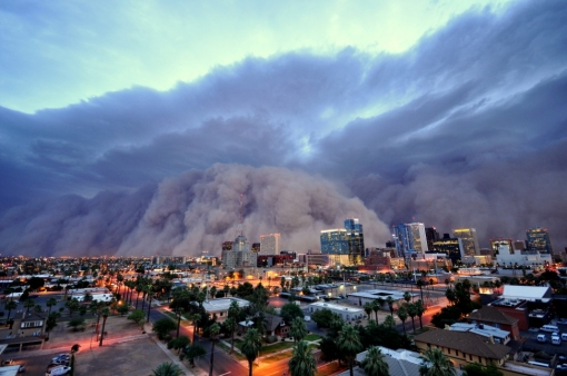 The July 5, 2011, haboob over Phoenix. Photo by Haboob Daniel Bryant.