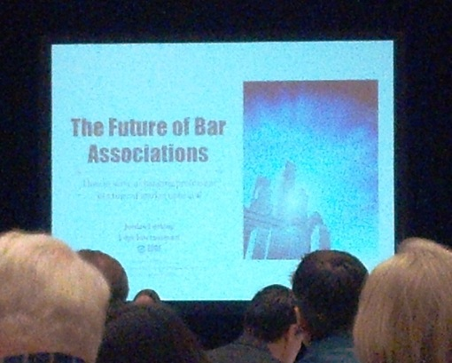 Jordan Furlong presentation at the National Association of Bar Executives, Dallas, Texas, Feb. 6, 2013.