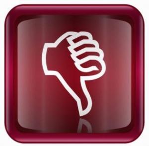 thumbs down button dislike