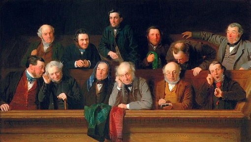 A tough and sometimes controversial job: The Jury, by John Morgan painted in 1861).