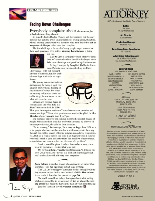 AzAt October 2013 Editor's Letter