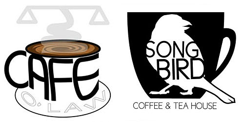 Cafe O Law and Songbird logos