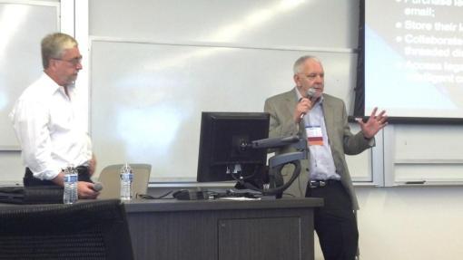 Marc Lauritsen, left, and Richard Granat, Phoenix School of Law, Oct. 10, 2013, present on e-lawyering