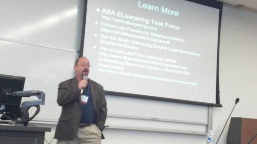 Florida attorney Michael Chadwick presents on Elawyering, Phoenix School of Law, Oct. 10, 2013