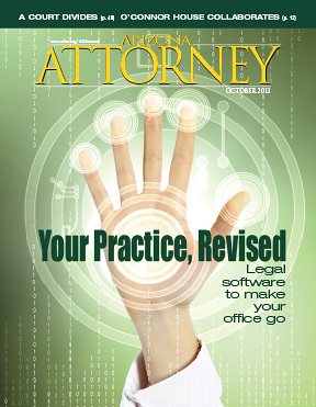 October 2013 Arizona Attorney Magazine cover