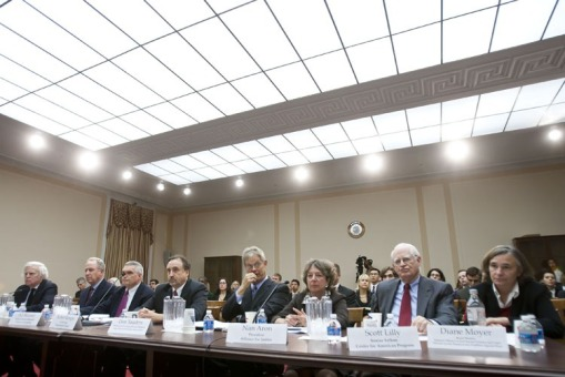 Panel of lawyers addresses House Judiciary Committee on the impact on courts of the government shutdown, Oct. 8, 2013 (Photo: Blog of Legal Times)