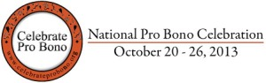 National Pro Bono Celebration Week 2013 logo